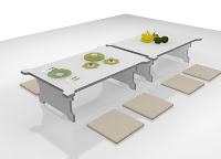Folding Furniture - Furniture Irit Tempat - Saving Space Furniture - Meja Makan Lipat