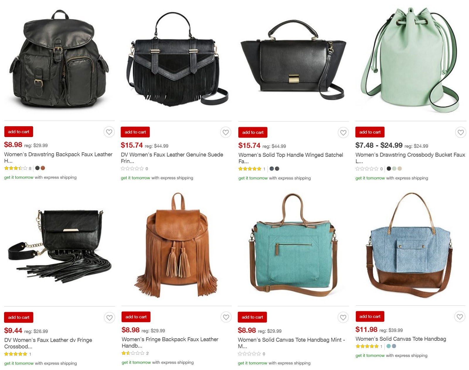 Target Has Some Really Good Clearance Handbags Under 16 Score Free Shipping With Red Card Plus An Extra 5 Off When You Spend 50
