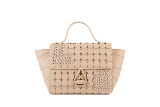 Clique Of Circle Satchel,Nude by Zooki