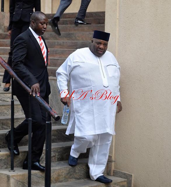 Photos: EFCC arraigns Doyin Okupe for N702 million 'arms-gate' fraud