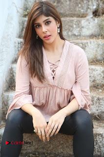 Telugu Actress Aditi Singh Stills in Leather Pants at Nenu Kidnap Iyanu Movie Press Meet  0102.JPG