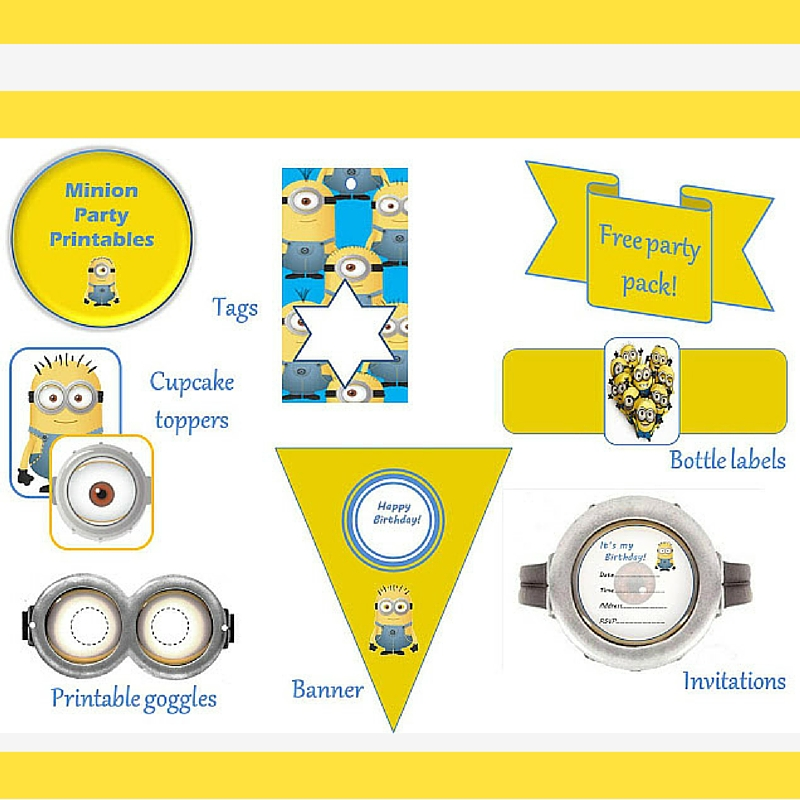 Keeping it Real Minions party pack - free printable