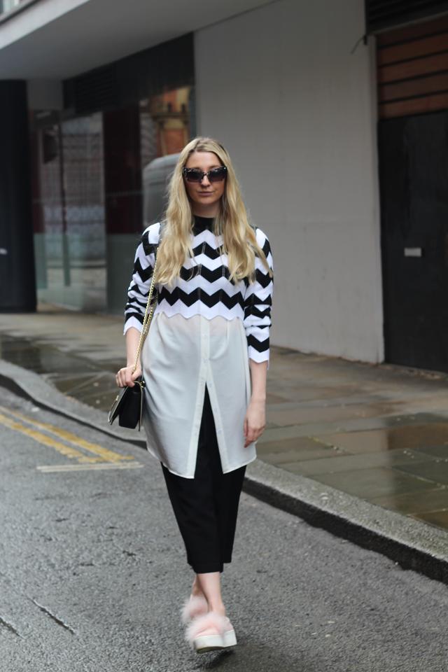 how to wear monochrome uk fashion blog