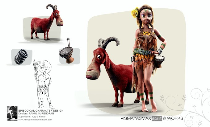 Eve- Character Design done by Rahul Surendran, Second year disciple of Vismayasmax Animations...!!