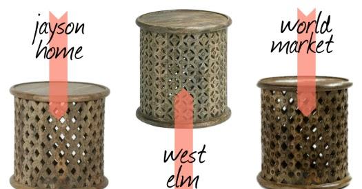 Laurendy You Ve Got Options Carved Wood Side Table