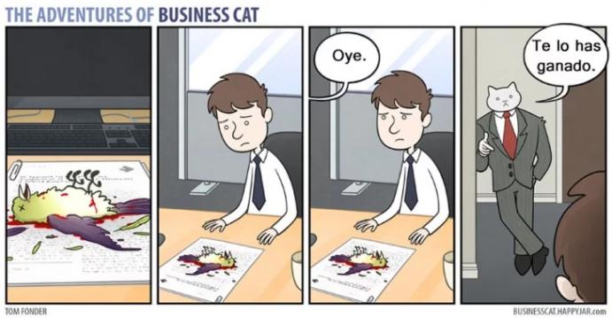 Así sería la vida en la oficina si tu gato fuera tu jefe