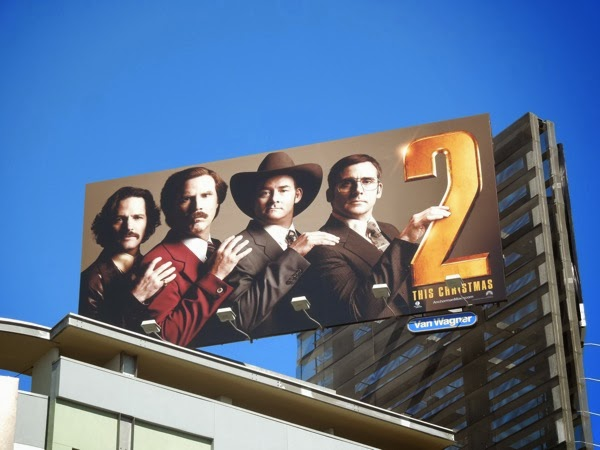 Anchorman 2 movie billboard