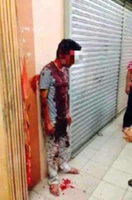 Photos: See what they did to a man who raped a 13-year-old girl inside a toilet in Malaysia