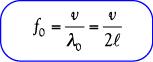 Rumus Frekuensi Nada Dasar (harmoni pertama) pada dawai