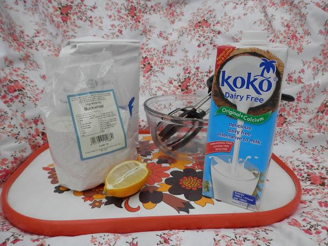 Vegan pancake recipe, for vegan buckwheat flour and coconut milk pancakes, soya free, dairy free, easy pancakes.  Made using Koko dairy free milk alternative.  secondhandsusie.blogspot.com #vegan #veganblogger