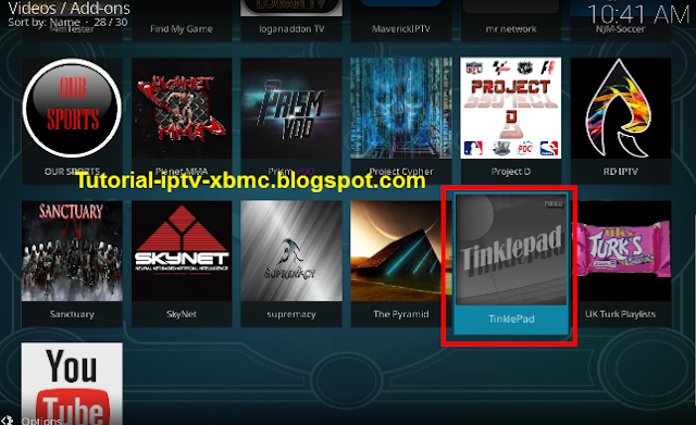 how to download tinklepad on kodi