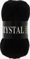 пряжа Vita  Crystal черный