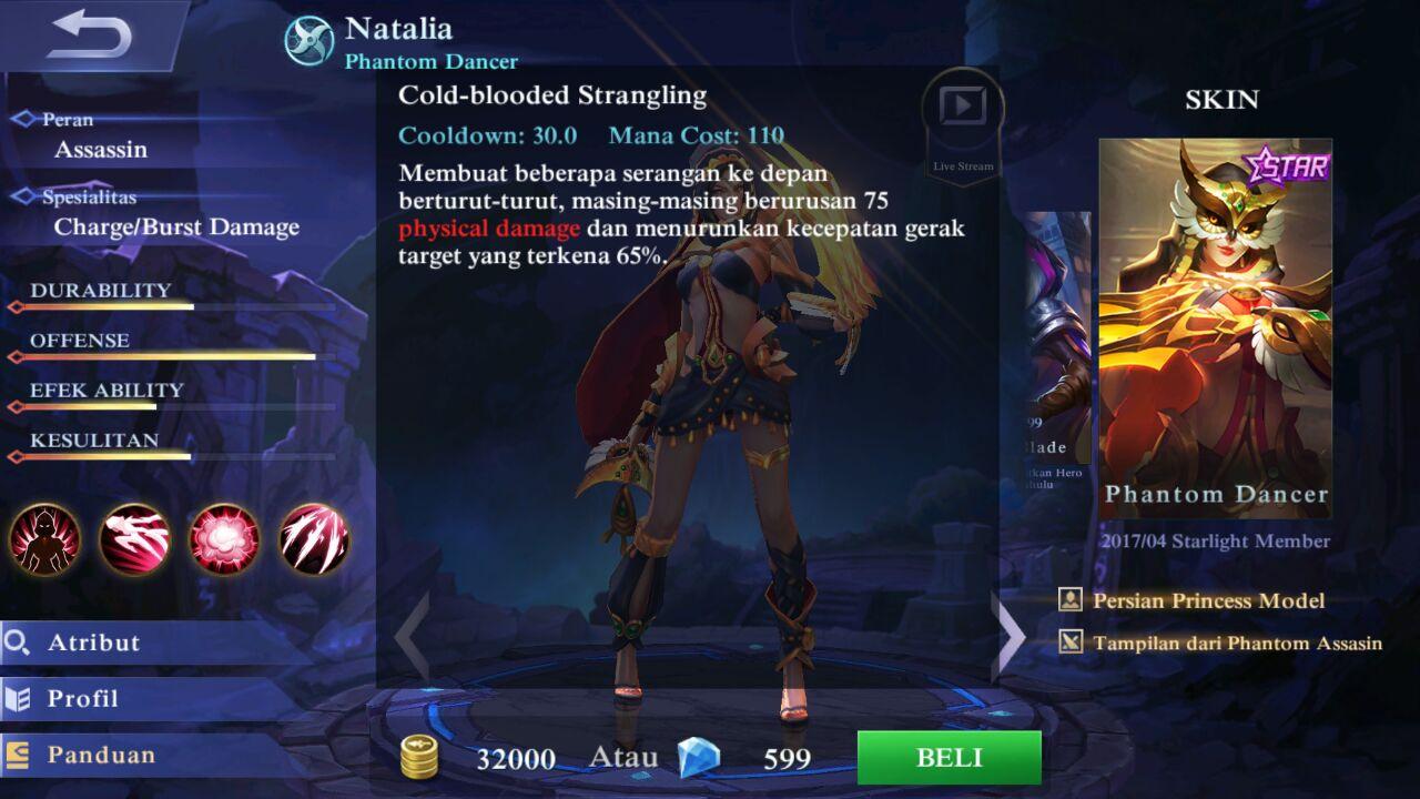 How To Buy Starlight Member In Mobile Legends Gambarinsta Legend Gift Card Natalia Jenis Hero Dalam Game Berbagi Ganteng