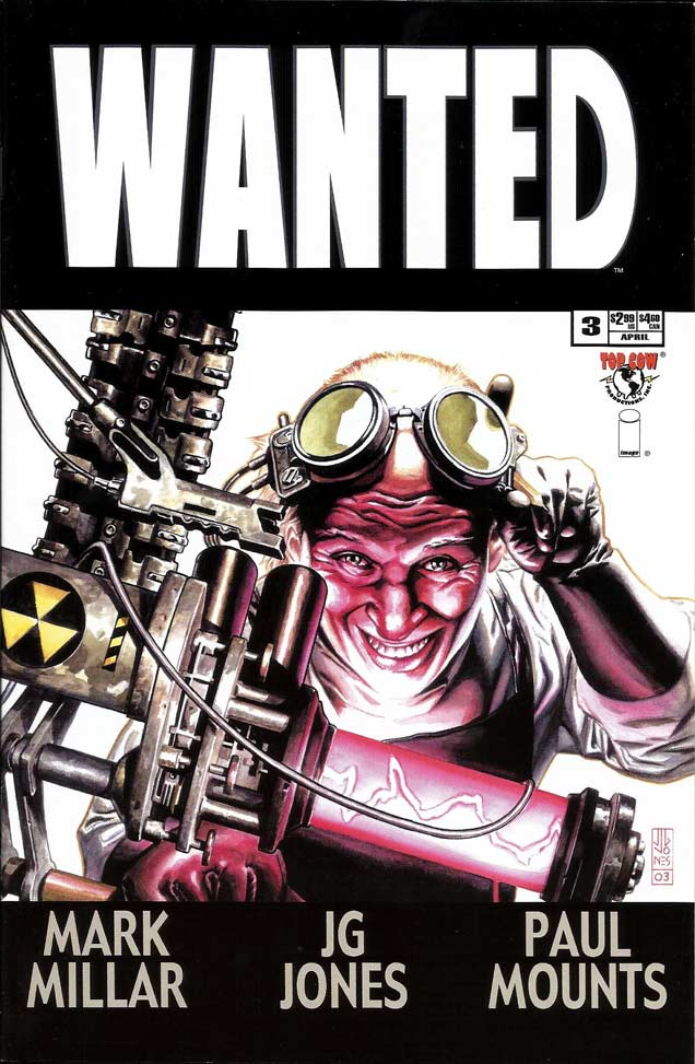 Portada 3 de Wanted, mark millar, reseña, cómic, Wanted