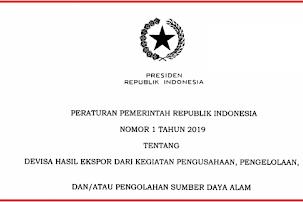 Download Peraturan Pemerintah Nomor 1 Tahun 2019