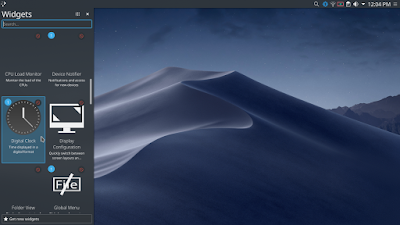 Membuat Tampilan Kali Linux Menjadi Mac OS Mojave - Widget