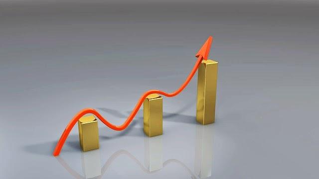 gráfico sobre barras de oro