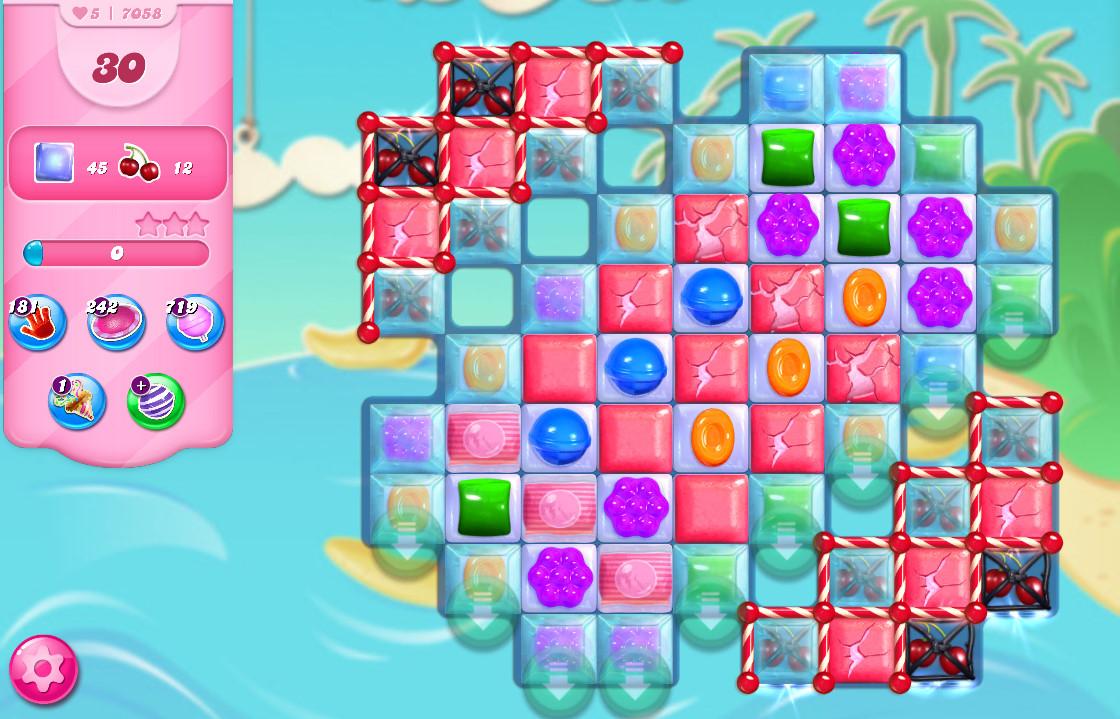 Candy Crush Saga level 7058