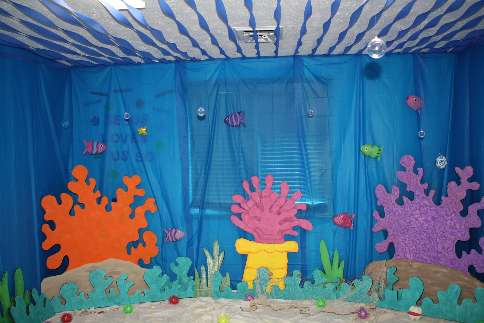 Ocean Inspired Decorating Eager Little Mind Under The Sea Decorations For Vbs