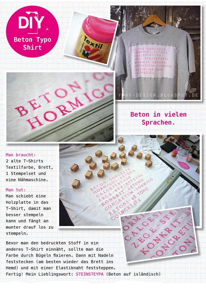 DIY, genähtes T-Shirt, Beton