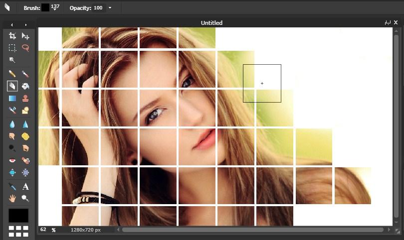 Efek Grid Dengan Editor Online