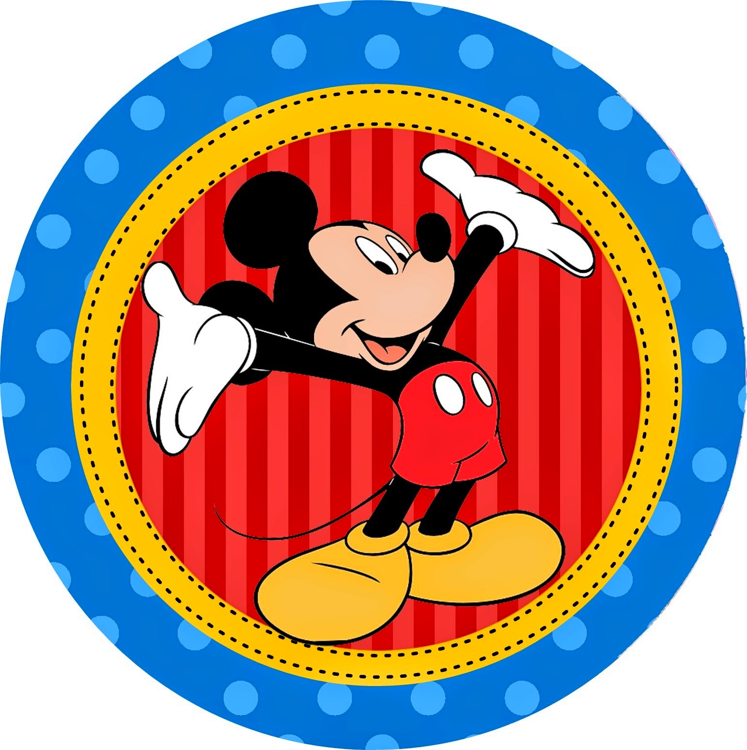 Disney Mickey Clubhouse Free Printable Cupcake Wrappers and Toppers.