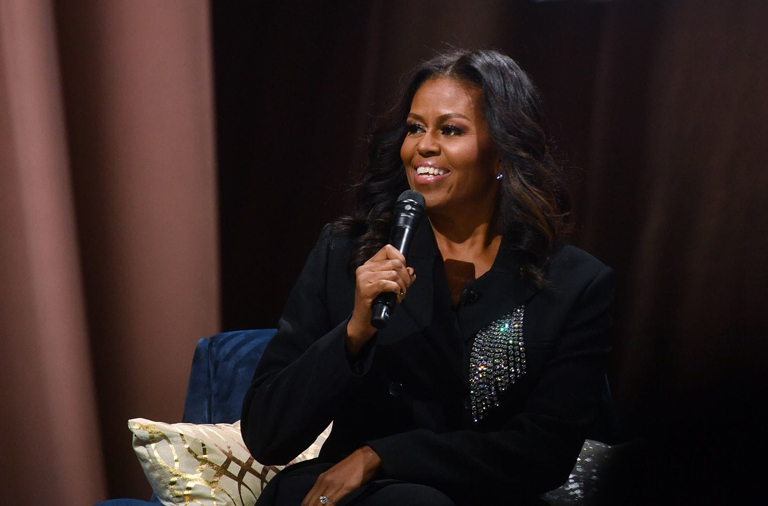 Michelle Obama wearing Christopher Kane
