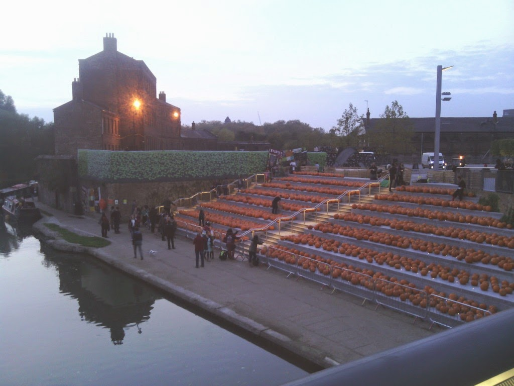 Pumpkins at KX - 3,000 of them for Halloween 2014!
