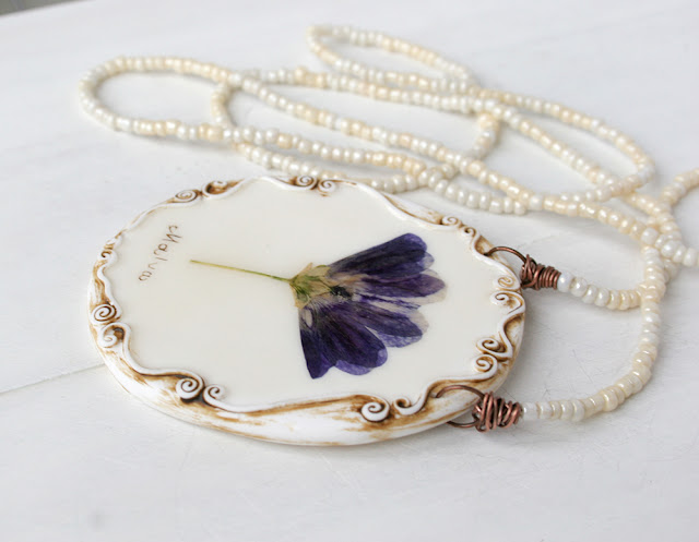 Grandma's Garden - Romantic Vintage Real Flower  Jewelry