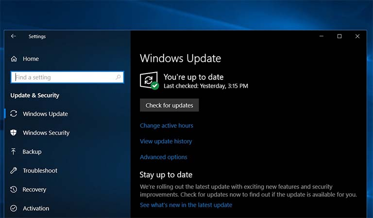 Tombol Check for updates Windows 10 Juga Dapat Mengunduh Update Opsional