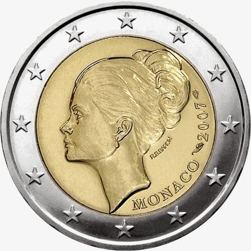 Princess Grace Kelly Monaco 2 euro coin 2007