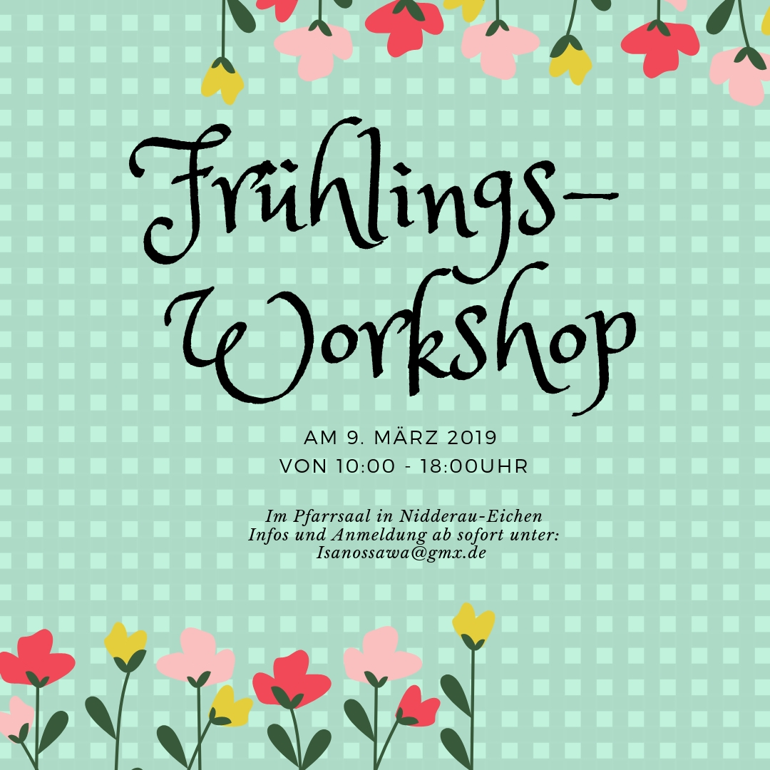 Ganz-Tages-Workshop am 9.3.2019