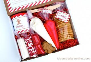scatola sorpresa regalo per personalizzare biscotti di natale