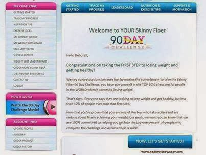 Skinny Fiber free tracking website to help with natural weight loss. It has health information, fitness tips and support.