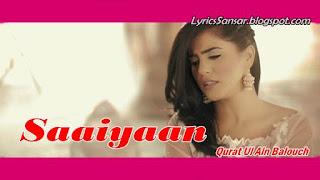 Saaiyaan-Qurat Ui Ain Balouch_1