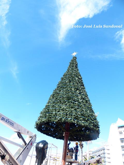 Retiran polémico árbol de Navidad de Las Canteras