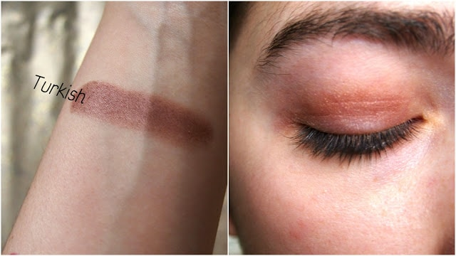 Swatch of Turkish eyeshadow
