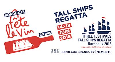 Vos évènements vin à ne pas manquer en Juin 2018 Beaux-Vins Bordeaux fête vin tall ship regatta