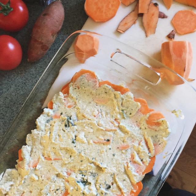 minimalist baker's sweet potato lasagna