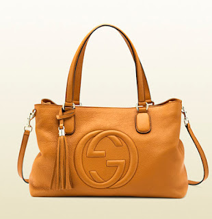 2f66ae3c9 GUCCI SOHO LIGHT SUNFLOWER LEATHER WORKING TOTE. 308363 A7M0G 7616