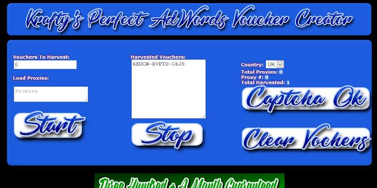Adwords Voucher Creator – Harvest Unlimited AdWords Vouchers!