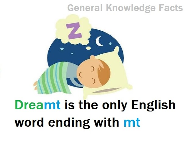 Dreamt : The only word in English language that ends with  letters mt