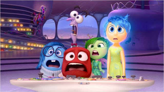 Los habitantes de la mente de Riley en Inside Out (Del Reves)