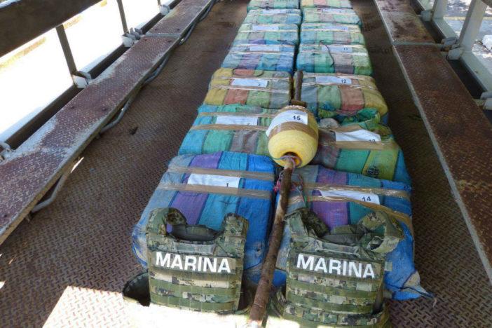 Decomisan 638 kilos de cocaína en la costa chiapaneca