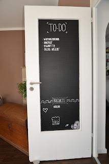 bunt ist meine lieblingsfarbe t r mit tafelfolie umgestalten. Black Bedroom Furniture Sets. Home Design Ideas