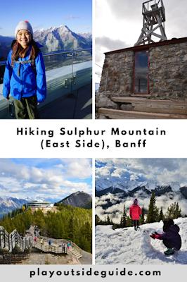 Sulphur Mountain Banff pinterest pin