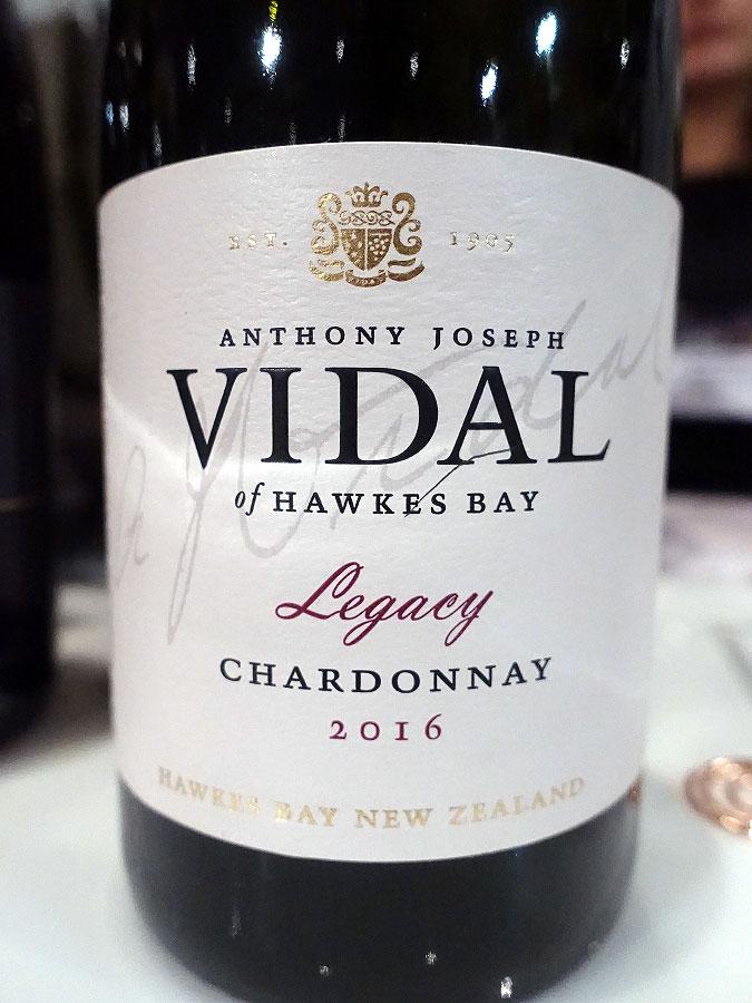 Vidal Legacy Chardonnay 2016 (93 pts)