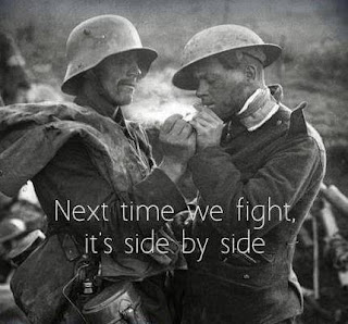 Next time we fight, it's side by side
