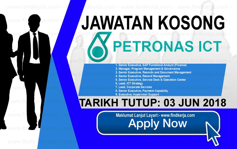 Jawatan Kerja Kosong PETRONAS ICT logo www.findkerja.com jun 2018