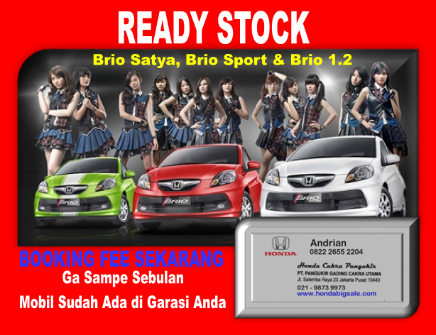 HONDA BRIO READY STOCK